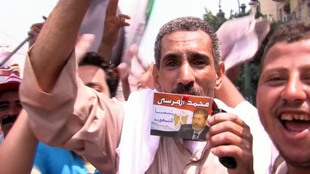 Supporters of the Muslim Brotherhood rally in Cairo