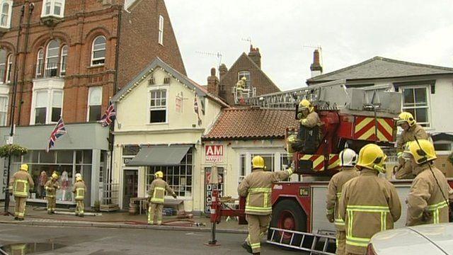 Aldeburgh cafe fire