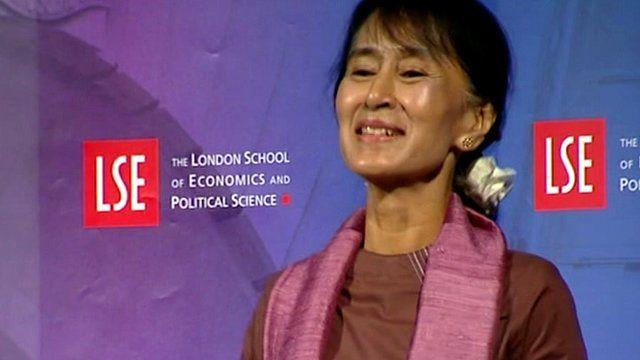 Aung San Suu Kyi at the London School of Economics
