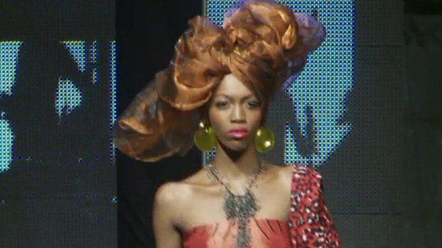 A catwalk model