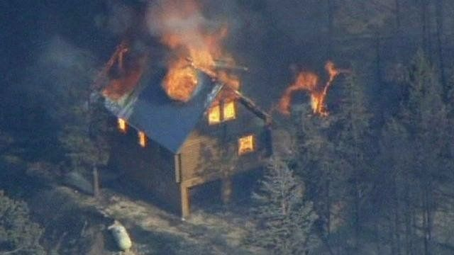 Wildfire spreads in Utah