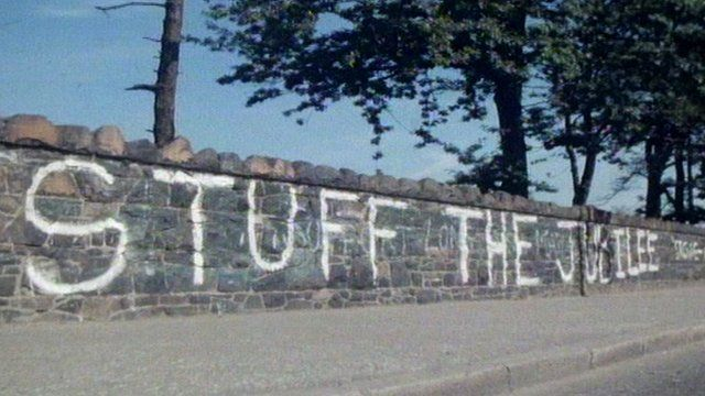 """Stuff the Jubilee"" painted in 1977"