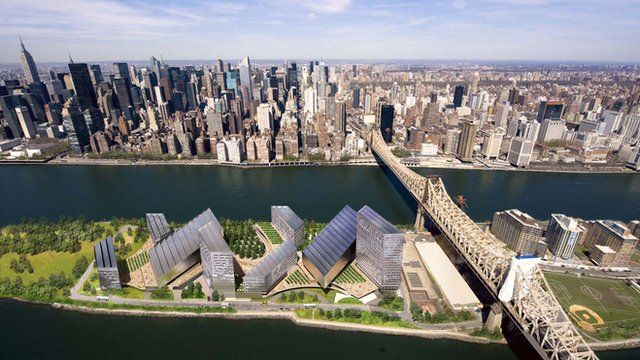 The proposed Roosevelt Island campus