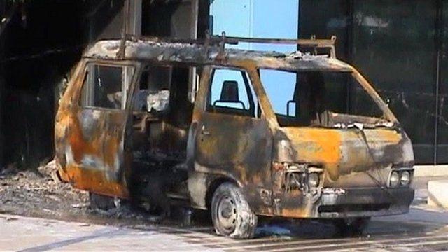 Burnt van