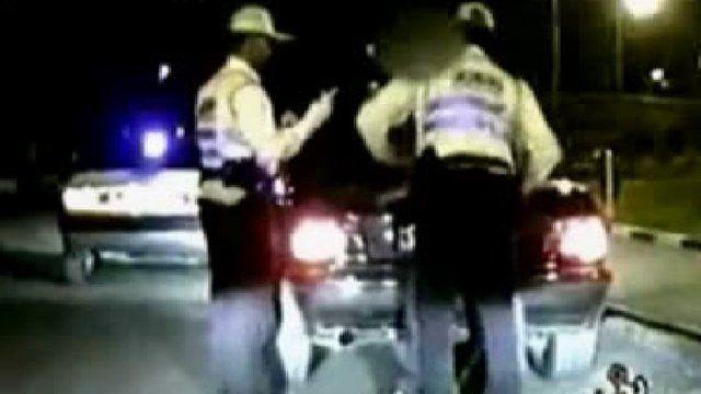 Traffic police in Iran.