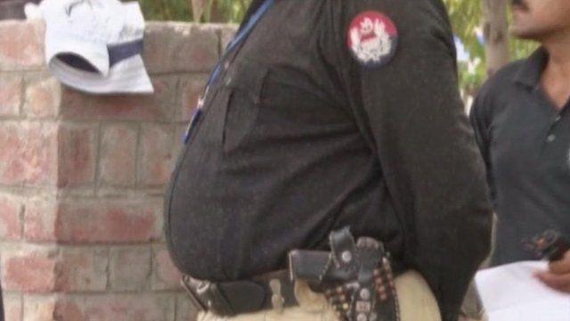 Overweight policeman