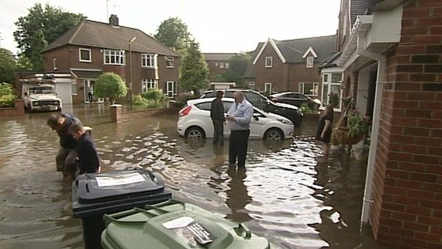 Peoople stranded due to flooding