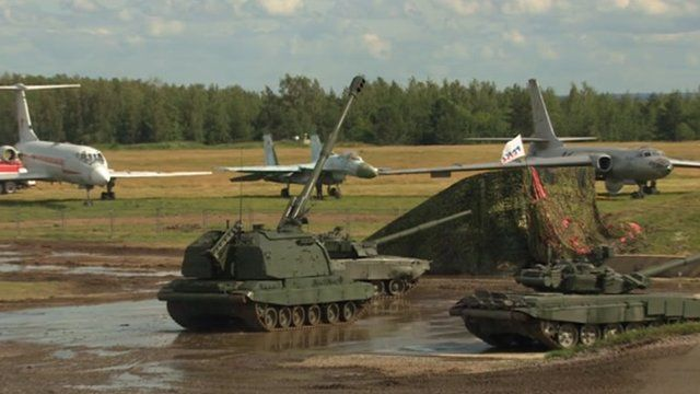 Russian tanks and planes