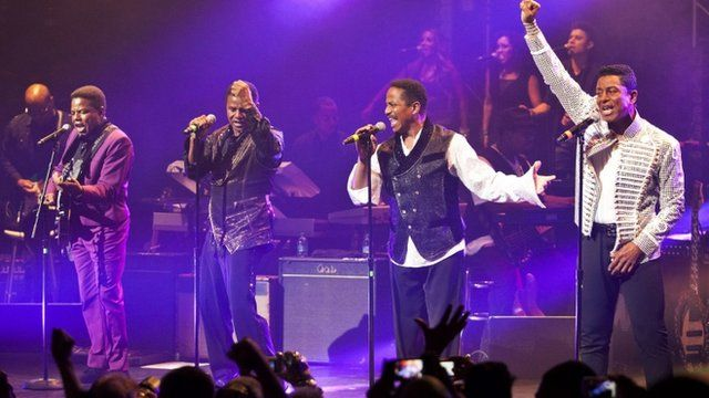 The Jacksons perform at the Apollo Theater in New York