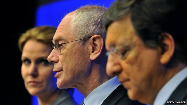Helle Thorning-Schmidt, Herman Van Rompuy, Jose Manuel Barroso