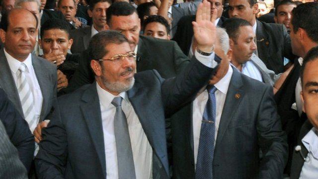 """Egypt""""s president-elect Mohamed Mursi"""