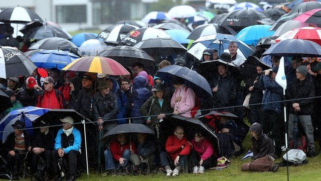 Crowds get rained on at the Irish Open
