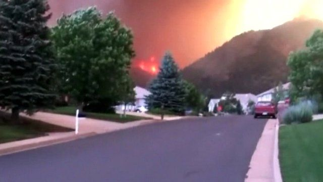 Amateur footage of wildfires
