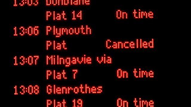 Train departures board