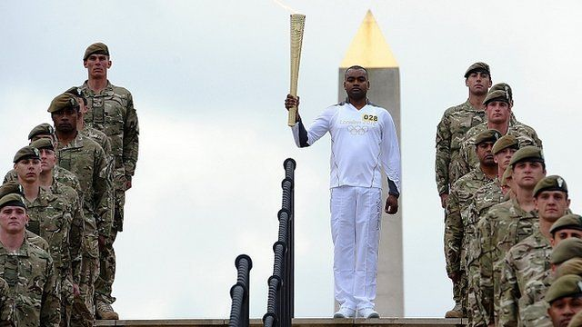 War hero Corporal Johnson Beharry carried the Olympic