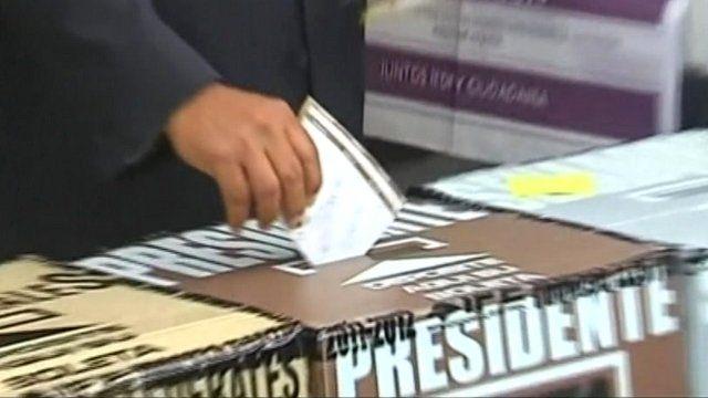 Presidential candidate Manuel Lopez Obrador casts his vote