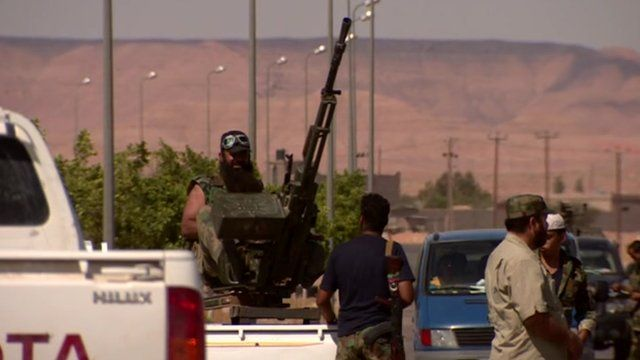 A man with a gun in Libya