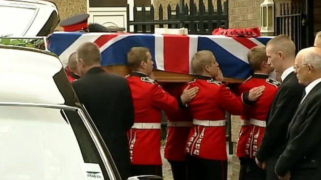 The funeral of L/Cpl James Ashworth