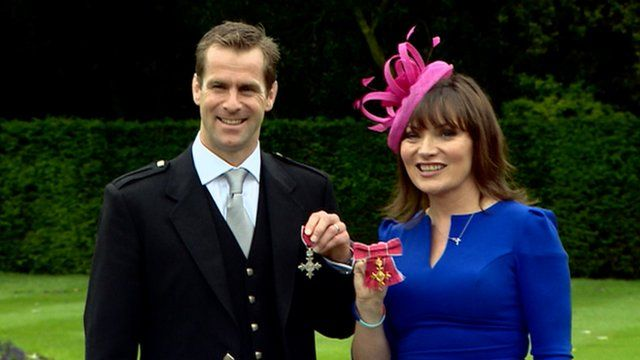 Chris Paterson and Lorraine Kelly
