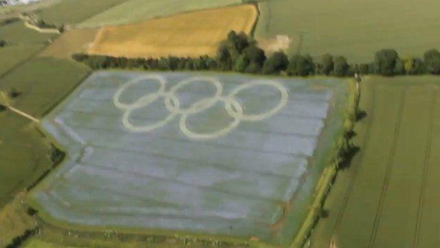 Olympic rings in Bath field