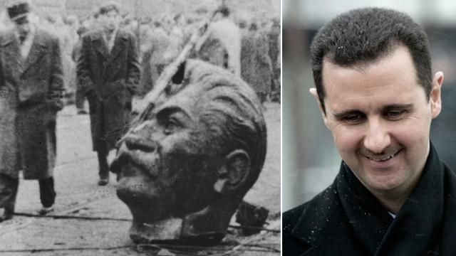 Stalin and Assad photo composite