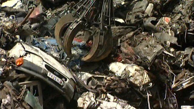 A scrap metal yard in Redruth