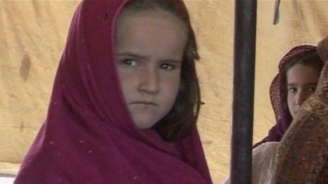 An Afghan girl in Iran