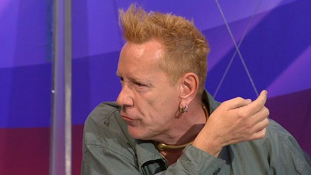 John Lydon on Question Time