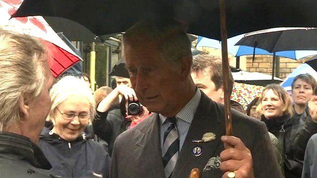Prince Charles in Hebden Bridge