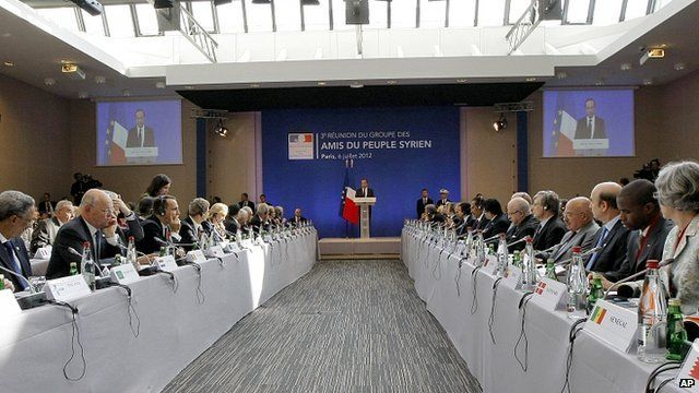 The Friends Of Syria meeting in Paris