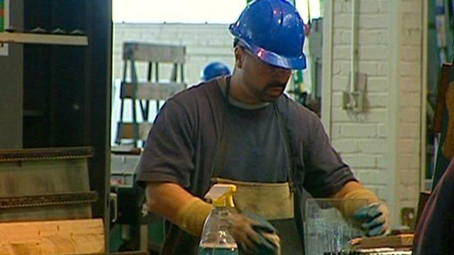 US factory worker