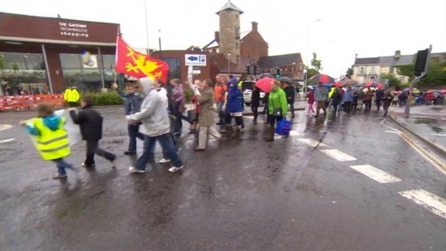 Trowbridge residents hold march over rejected Innox development