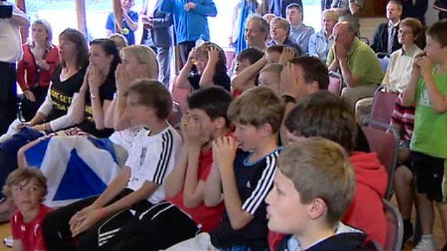 Dejected fans at Dunblane
