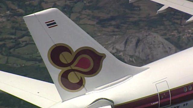A Thai Airways jet