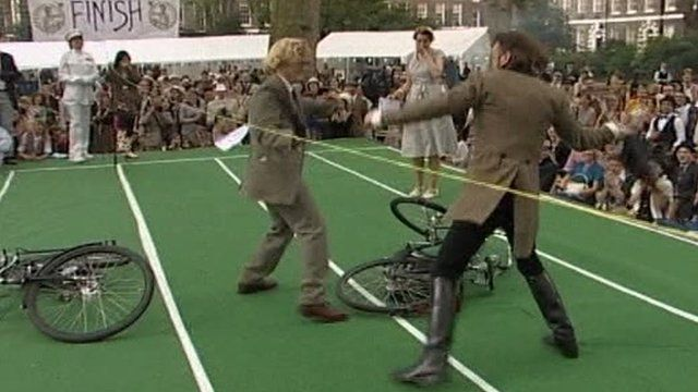 Competitors come to blows at the Chap Olympiad