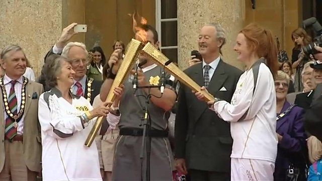 London 2012: Oxfordshire welcomes the Olympic Torch