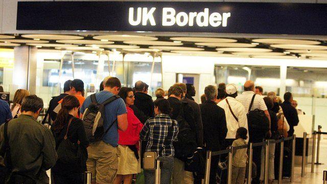 Heathrow Airport Border Control queue
