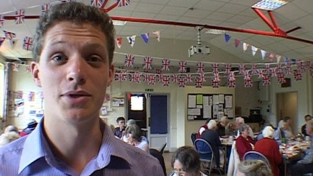 Ben Hanger at the party in Milborne St Andrew