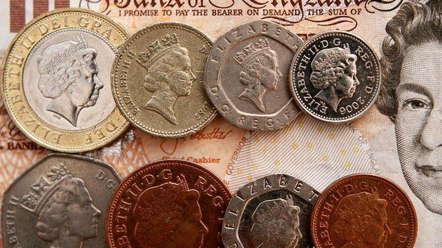Sterling coins and notes