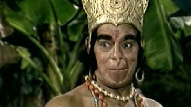 Dara Singh in the role of Hanuman