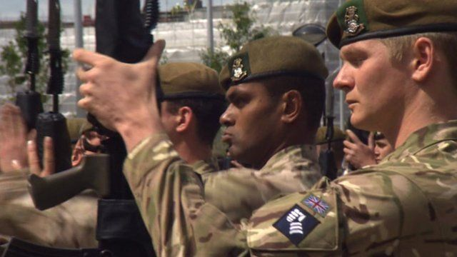 Soldiers from the 1st Battalion The Yorkshire Regiment
