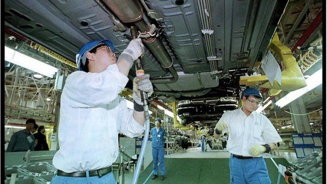 Chinese car plant