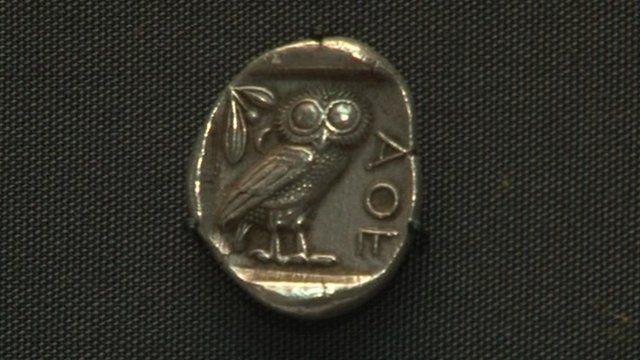 Original Athenian tetradrachm coin