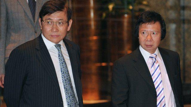 Raymond Kwok (L) and Thomas Kwok (R)