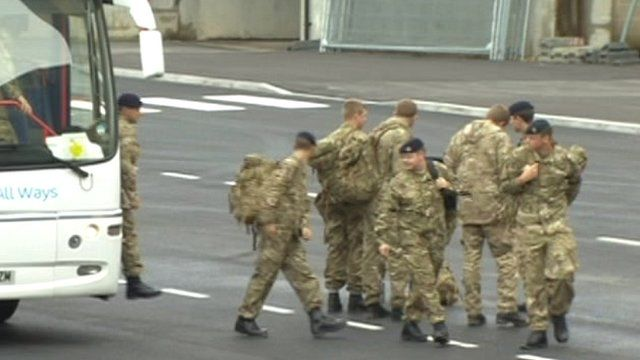 Troops used to provide extra security at Olympic games