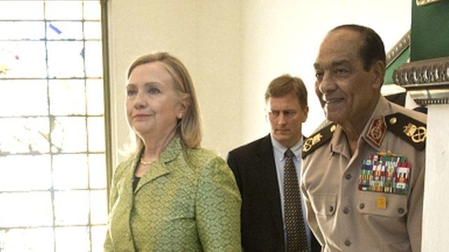 US Secretary of State, Hillary Clinton and Field Marshall Hussein Tantawi