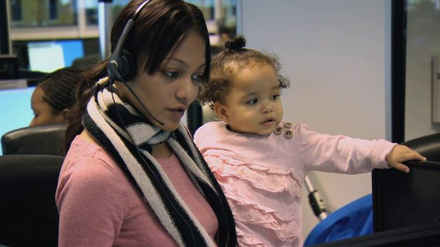 Zahra brings her two daughters into the Addison Lee office