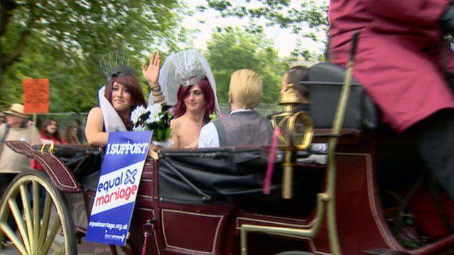 Gay pride celebration in Glasgow