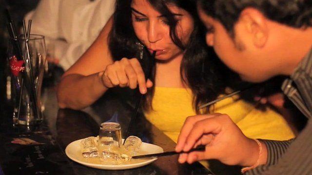 People enjoying night out in Mumbai