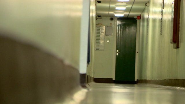 A prison corridor
